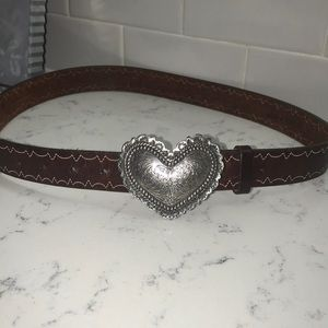Brighton Belt - silver Heart Buckke